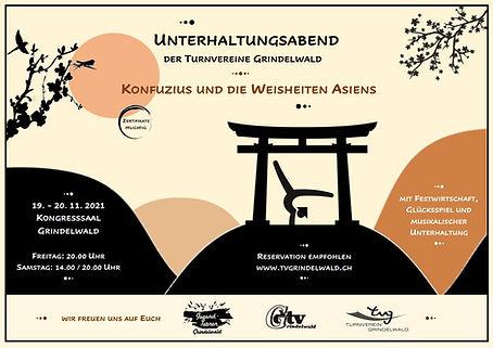 Flyer Unterhaltungsabend Turnvereine Grindelwald