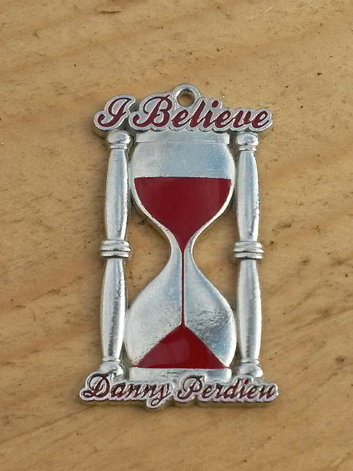 """""""I Believe"""" Keychain.  Made of lead.  Souvenir from the song """"I Believe"""" from the """"Time Of My Life"""" Project."""