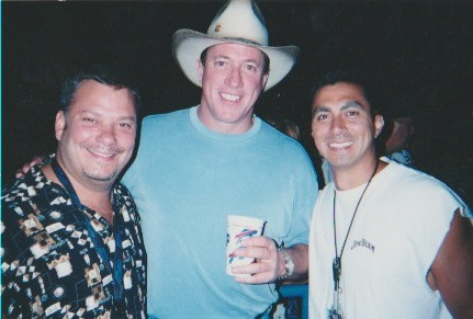 Joey Gonzales and Jim Kelly