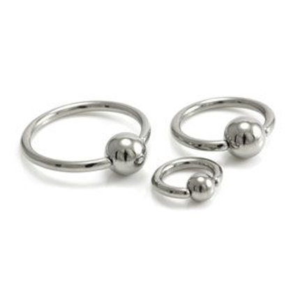 25 x Steel BCR with Steel Ball - 1.6mm