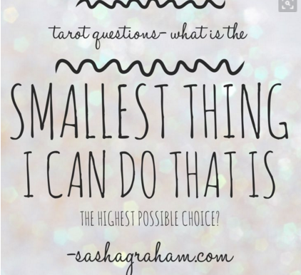 My New Year's Resolution is the Smallest Possible Thing and the Highest Possible Choice