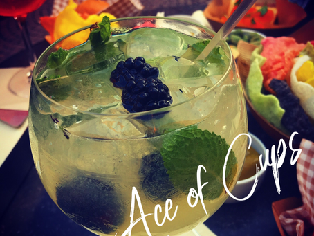 Ace of Cups Prosecco with Bee Balm Syrup Spritzer