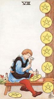 Sasha Graham's Tarot Card a Day Blog – The Eight of Pentacles