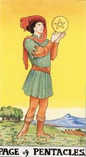 Sasha Graham's Tarot Card a Day Blog – The Page of Pentacles