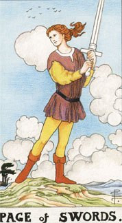 Sasha Graham's Tarot Card a Day Blog – The Page of Swords