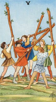 Sasha Graham's Card a Day Tarot Blog – The Five of Wands