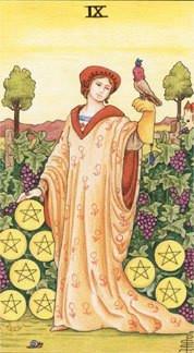 Sasha Graham's Tarot Card a Day Blog – The Nine of Pentacles