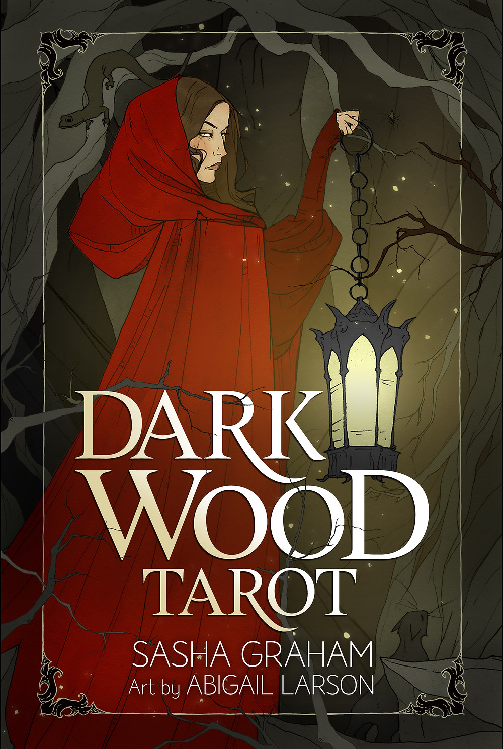 """Dare to enter the dark wood and discover your shadow self with this enthralling Rider-Waite-Smith-style deck. As you take on the role of a witch entering the wood, you'll find each card becomes a """"vision"""" of legends (wands), fears (swords), animals (cups), and the natural world (pentacles). These visions offer you deep wisdom, providing a richer and fuller understanding of yourself. Examine your secret desires, your shadowy dreams, and the unknown recesses of your psyche. This deck is the key to your shadow side—the key to a quest through darkness and into the light that reflects your hidden talents and personal power."""
