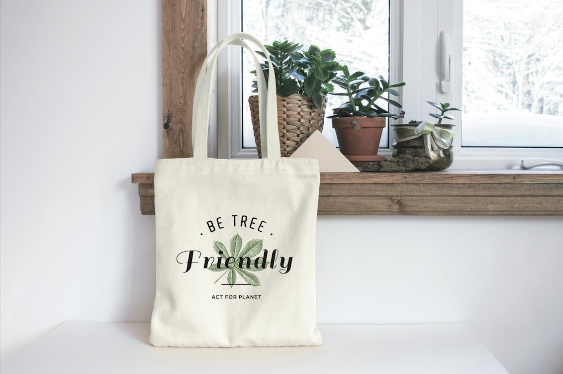 Tote bag Be tree friendly