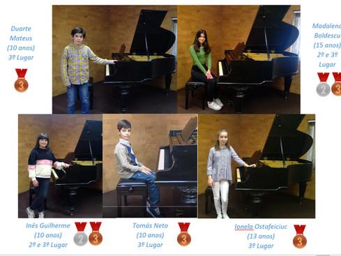 Alunos da Classe de Piano ganham prémios Internacionais