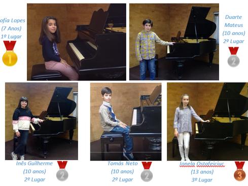 Alunos da Classe de Piano ganham 1º, 2º e 3º prémio em Concurso nos Emirados Unidos