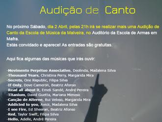 Audição de Canto - 2 Abril 2016