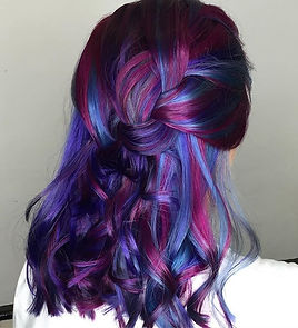 💙💜💖 #competition #hair #haircolor #ha