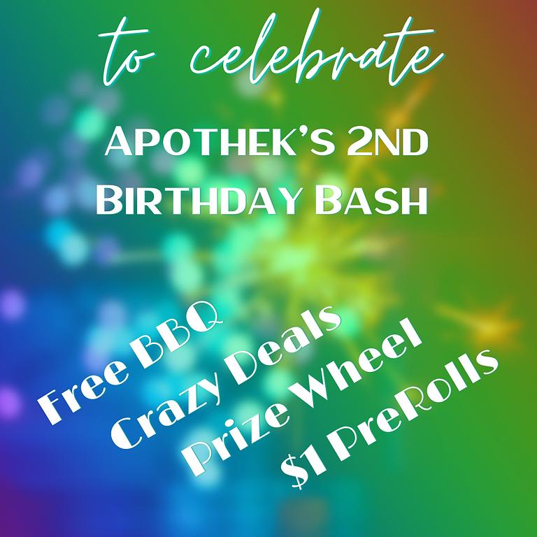 Happy 2nd Birthday Apothek