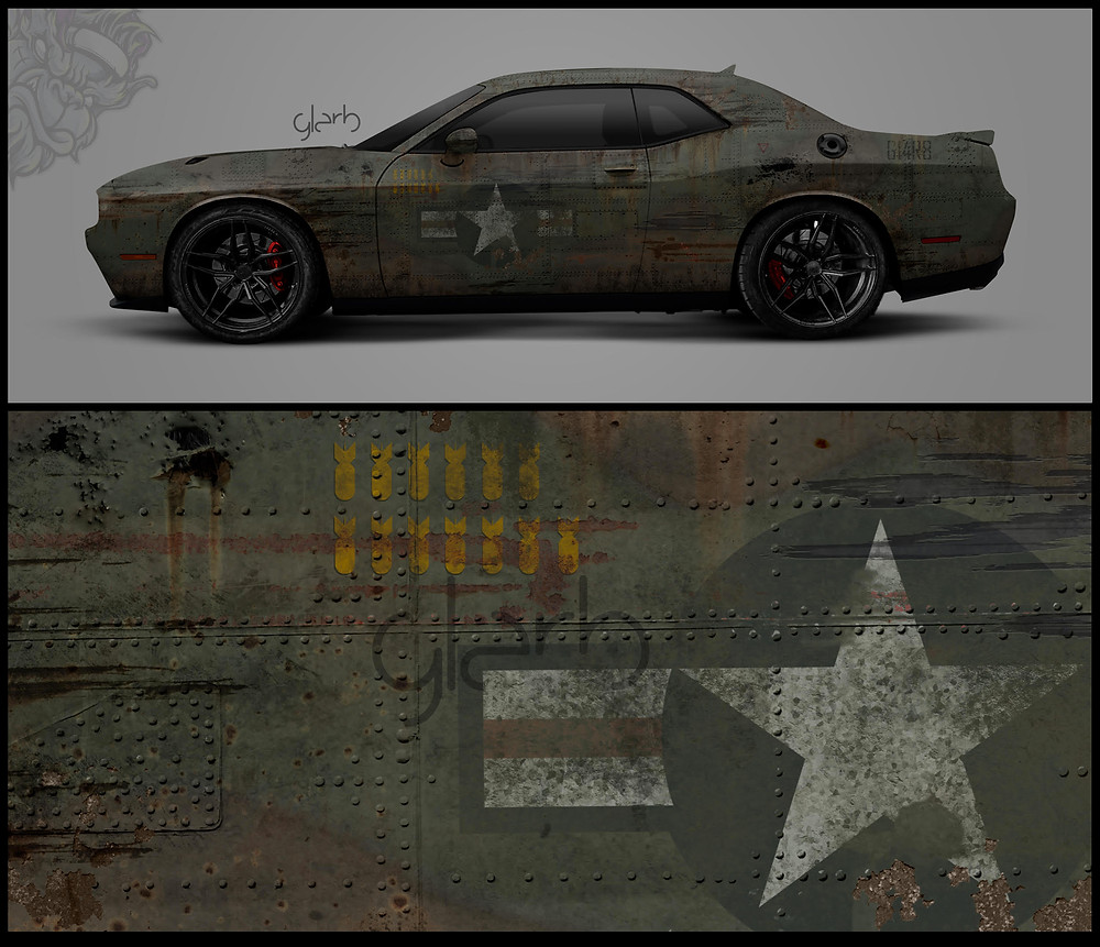 dodge challenger wrap miami