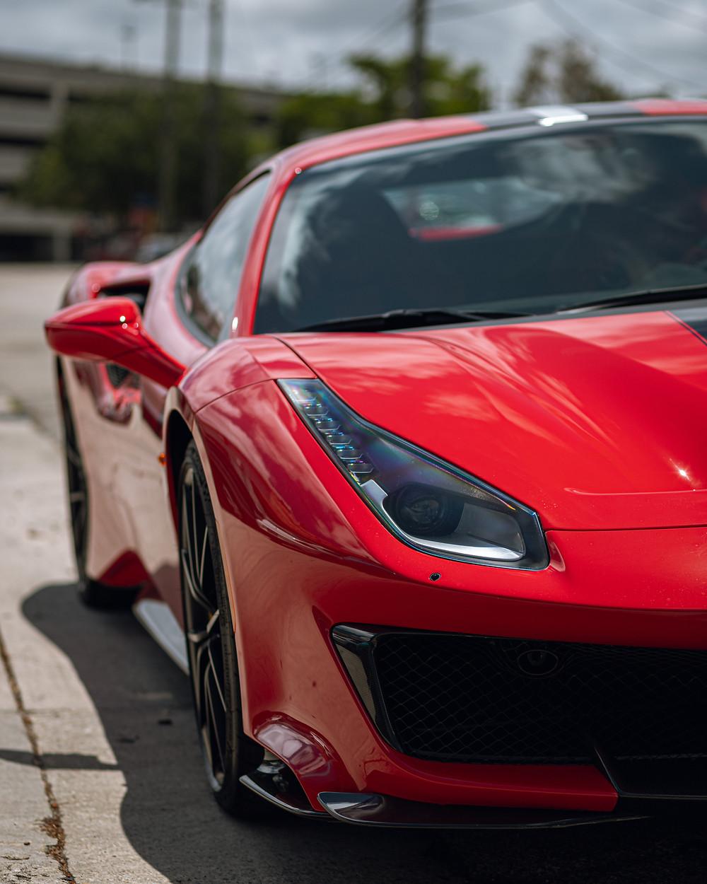 2019 Red Ferrari  488 Pista in Miami