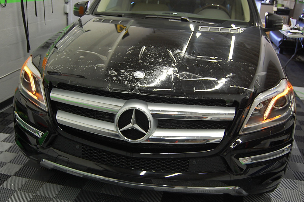 Mercedes clear bra / paint protection Miami