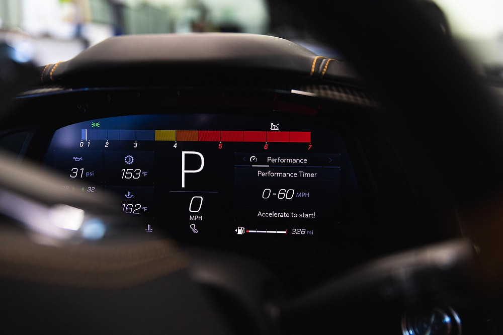 2020 Corvette C8 Full interior leather protected with ceramic pro leather and plastic