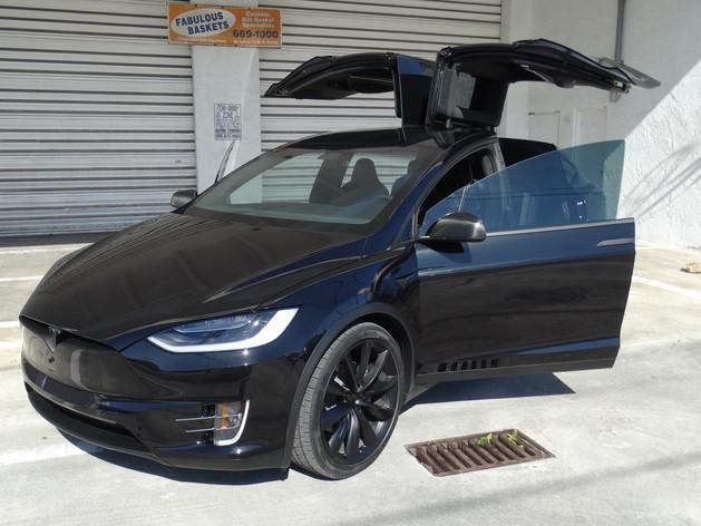 Tesla Model X Miami  chrome delete Miami