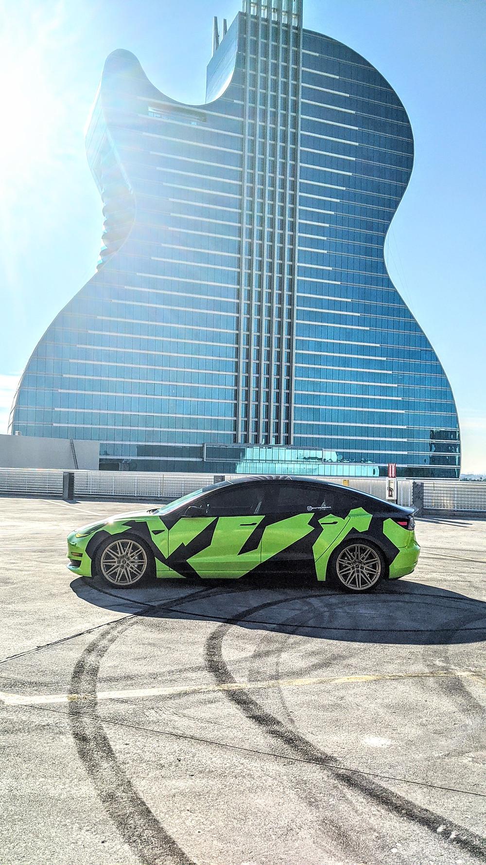 My Tesla Miami custom wrap