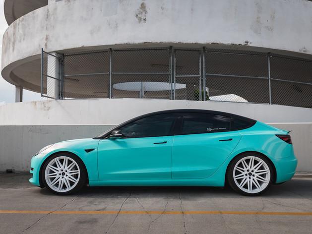 Tesla Model 3 custom car wraps Miami
