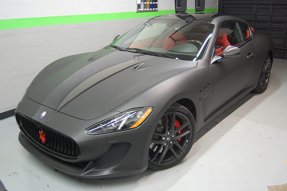maserati matte car wrap miami