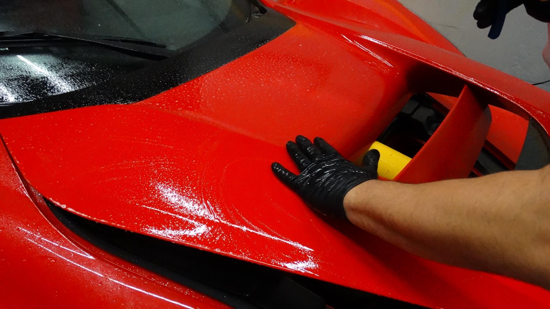 LA Ferrari - Full Front Paint Protection Film Miami