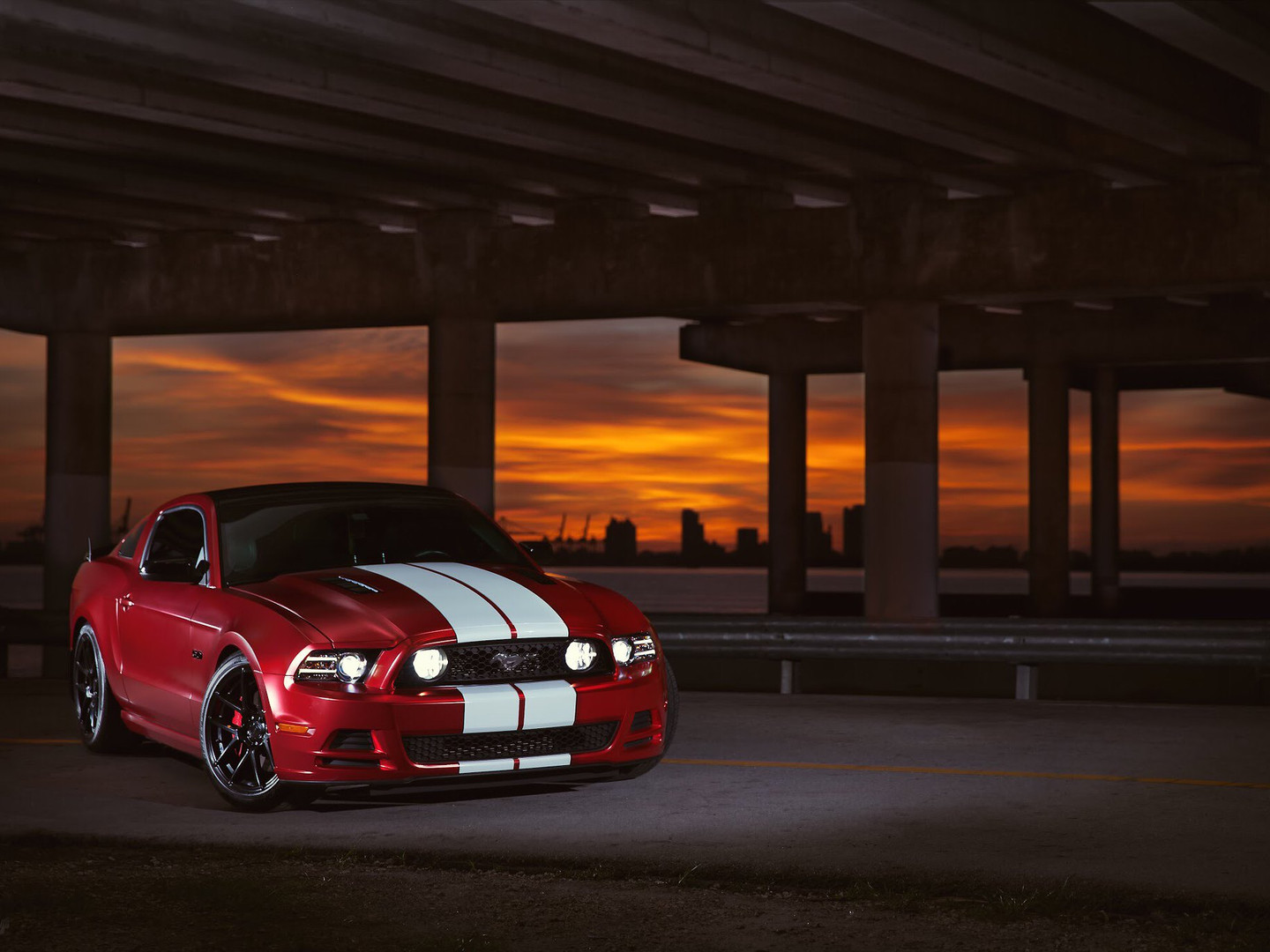 Mustang - Custom Wrap racing Stripes Miami