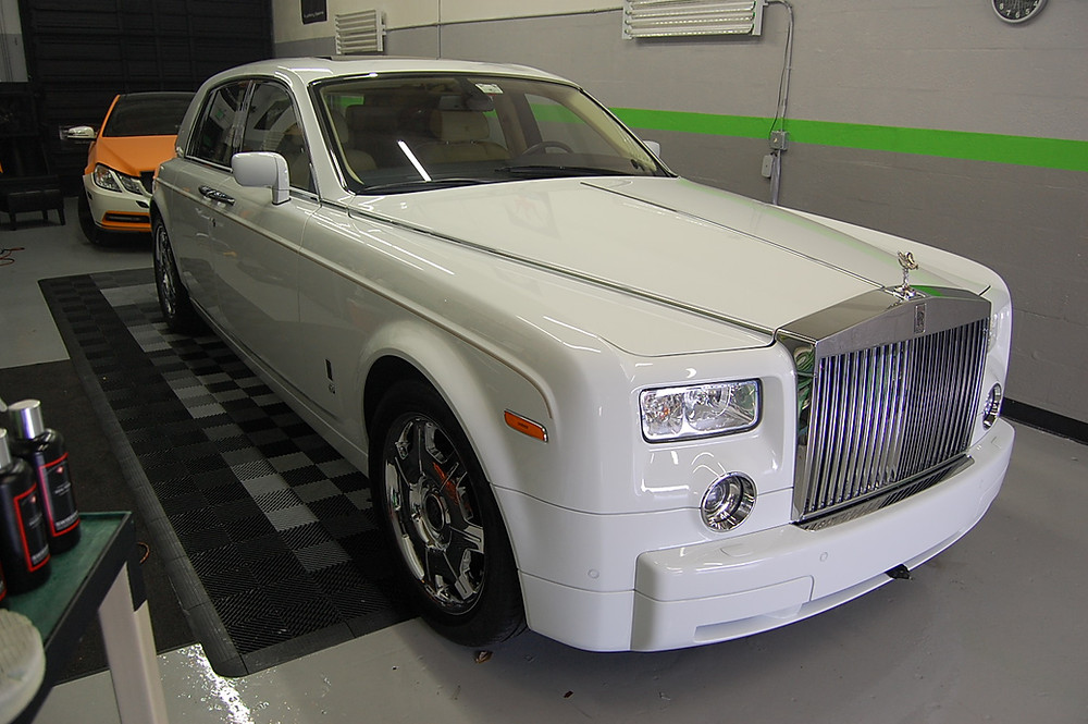 Rolls royce car wrap Miami