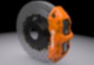 Orange reflective caliper wrap 3M Miami