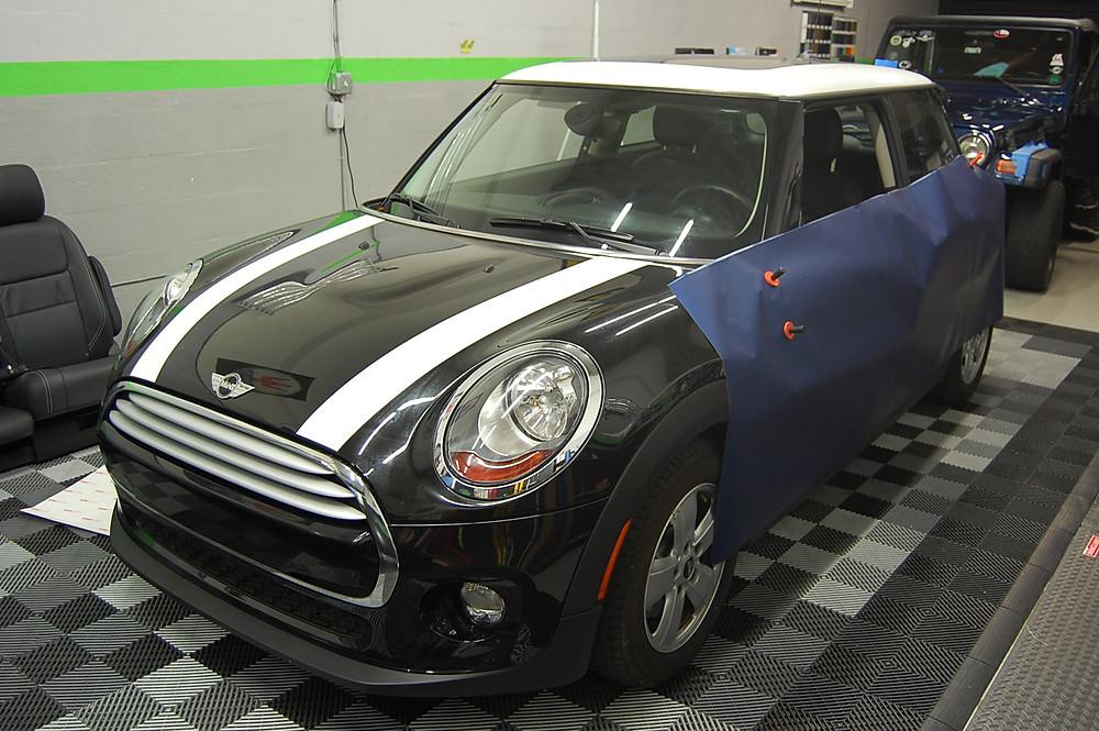 Mini cooper car wrap Miami