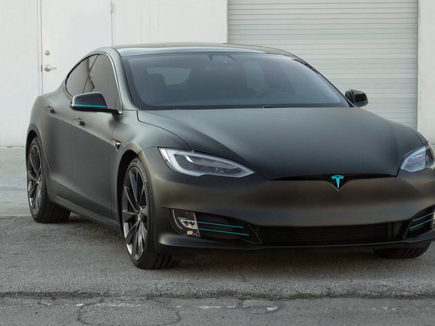 Tesla Model S car wrap Miami