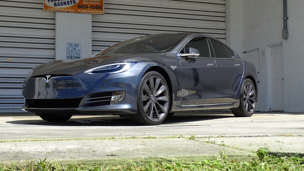 Tesla Model S Car Wrap Miami Xpel Stealth Paint Protection Film