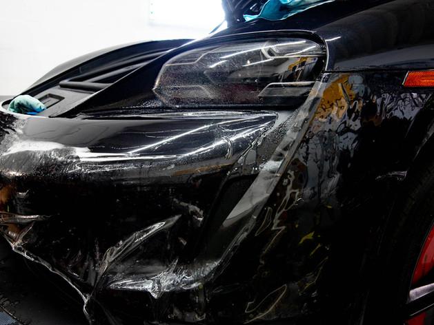 Porsche Taycan paint protection film Mia