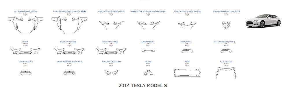 2014 Model S Tesla Miami paint protection Suntek Xpel
