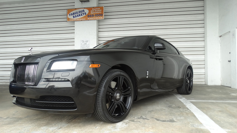 Rolls Royces Wraith Car wrap Miami First Class AutoSports