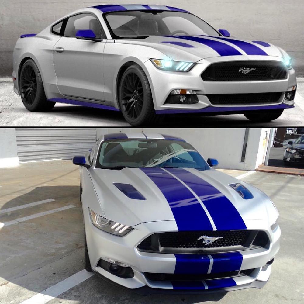 Mustang Racing Stripes Rally Stripes