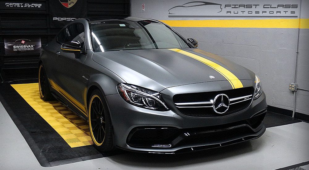 Mercedes Benz C63 AMG coupe Edition 1 receives Xpel Stealth full body paint protection