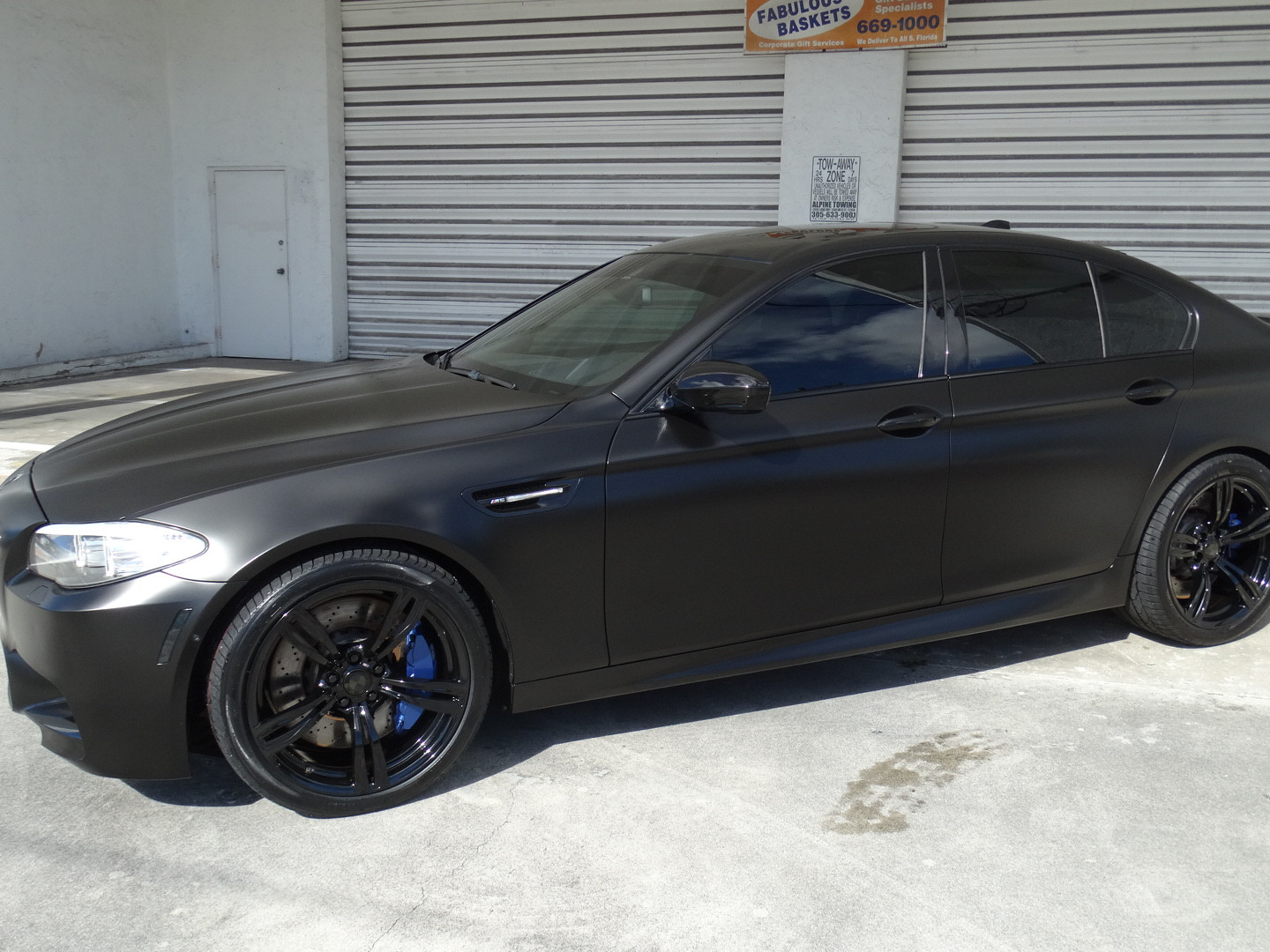 BMW - Satin Black Car Wrap