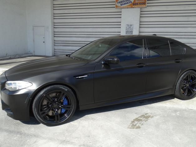 BMW - Satin Black Car Wrap