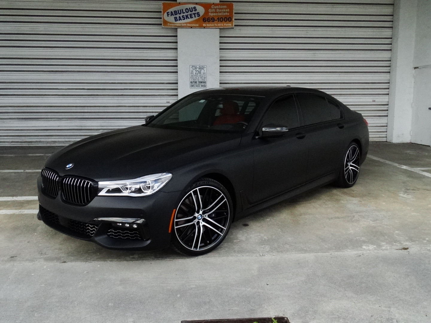 bmw 7 series wrap Miami matte black