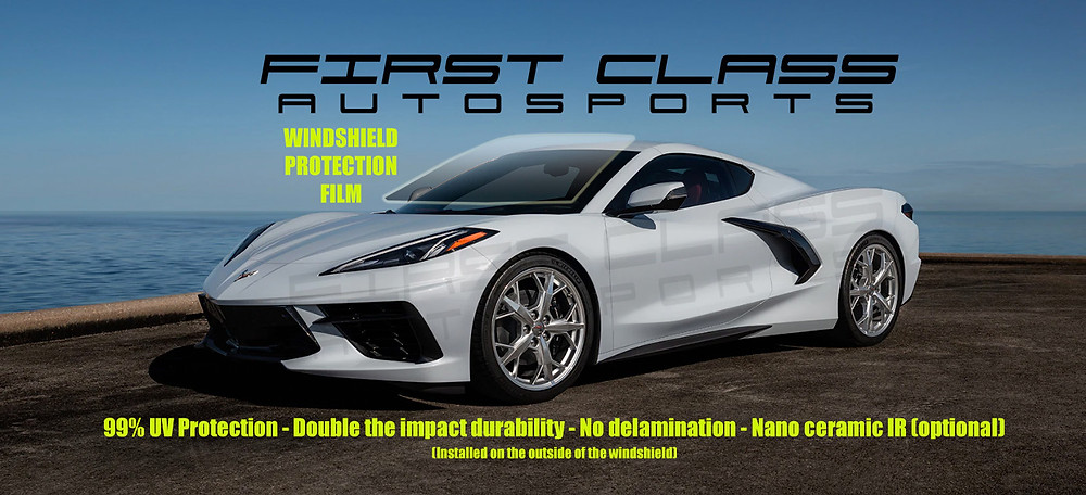 Best way to protect the front windshield of your new 2020 Corvette C8 from rock chips