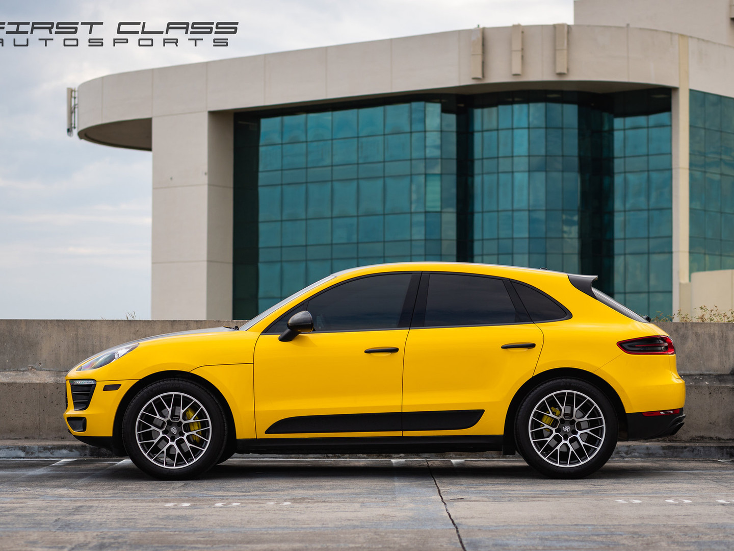 Porsche Macan Yellow car wraps Miami