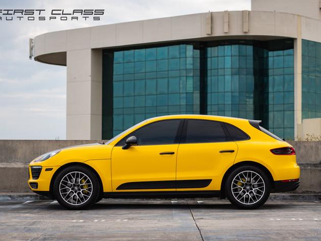 Porsche Macan Yellow car wraps Miami
