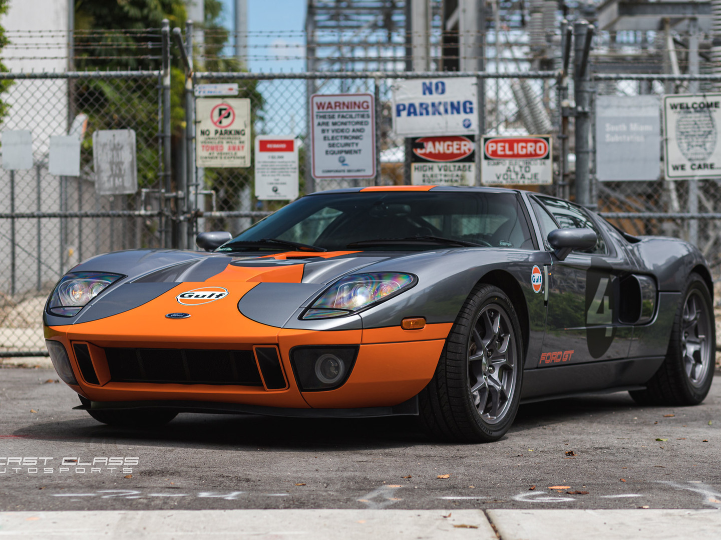 Ford gt custom car wrap miami