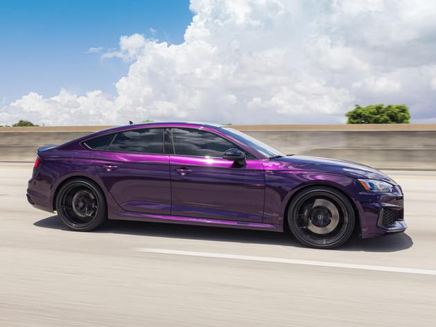 Audi RS5 custom car wrap color Miami
