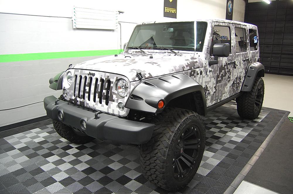 3m jeep digi camo car wrap Miami