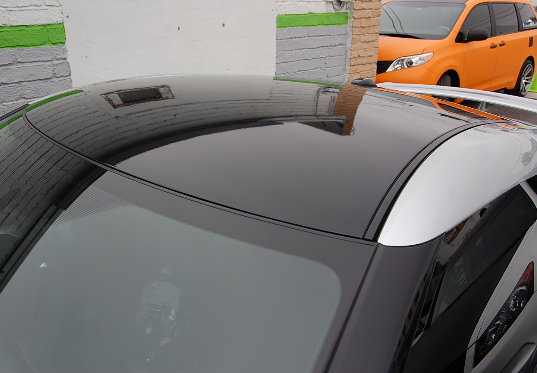 Nissan GTR 3M gloss black roof wrap Miam