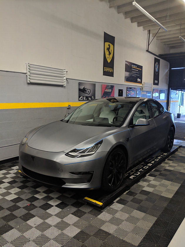 Not your average Tesla Model 3 car wrap in Miami     well