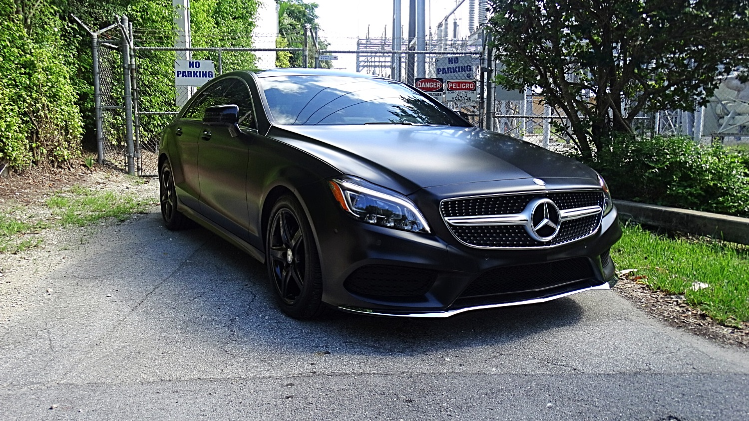 full color change wrap on mercedes benz cls 400 with accents and powde